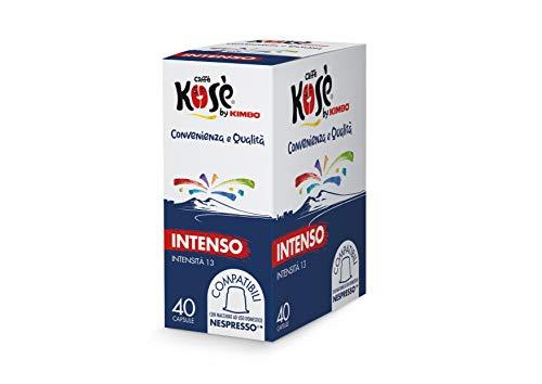 Kosè By Kimbo Capsule Intenso Compatibili Nespresso, 4 Astucci Da 40 Capsule - 800 g