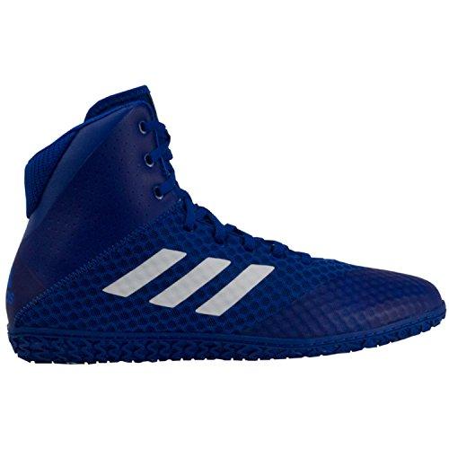 adidas Mat Wizard 4 Men's Wrestling Shoes, Royal/White, Size 5