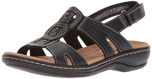 Clarks Women's Leisa Vine Platform, Black Leather, 10 Medium US