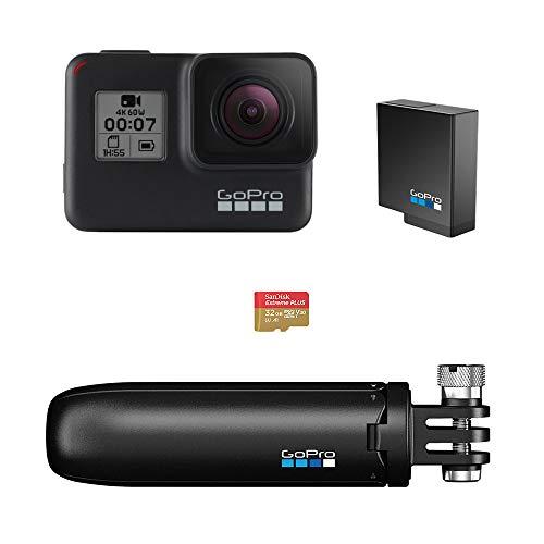 GoPro Pacchetto HERO7 Black - include Shorty, batteria di riserva e scheda di memoria da 32 GB
