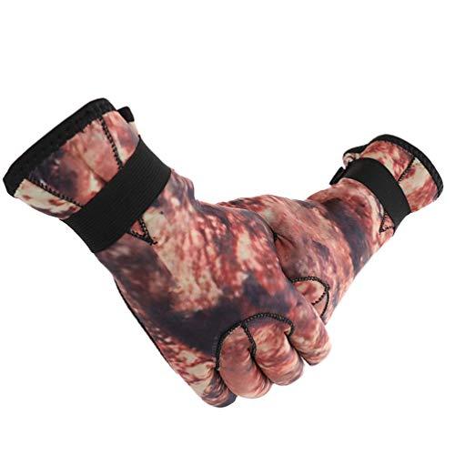 BESPORTBLE 1 Paar Taucherhandschuhe 3 Mm Nylon Abriebfest Rutschhemmend Kratzschutz Warme Handschuhe Tauchzubehör zum Schnorcheln Erkundungstouren im Meer XXL (Tarnung)