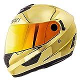 NENKI Helmets NK-852 Full Face Motorcycle Helmets Dot Approved With Dual Visors (Medium, Chrome Gold)