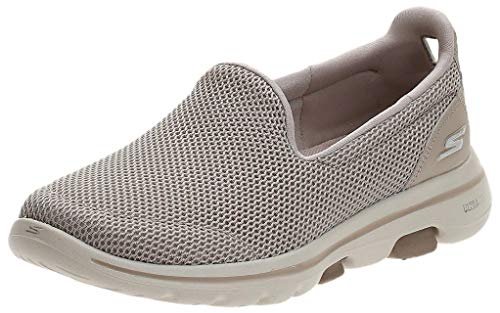 Skechers Performance Go Walk 5, Zapatillas Mujer, Taupe (TPE