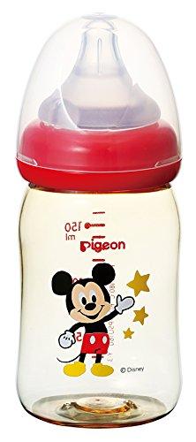 ピジョン Pigeon 母乳実感 哺乳びん プラスチック製 ミッキー柄 160ml 0ヵ月から おっぱい育児を確実にサポ...