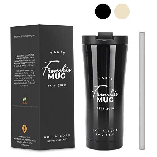 Frenchie MUG 500ml MUG Isotherme pour Café & Thé Tasse de café étanche...