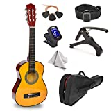30' Wood Guitar with Case and Accessories for Kids/Girls/Boys/Beginners (Wood)