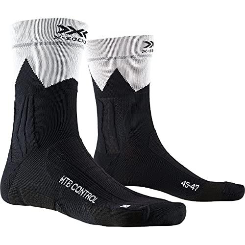 X-Socks MTB Control, Calzini da Ciclismo Unisex-Adulto, Opal Black/Zigzag, 42-44