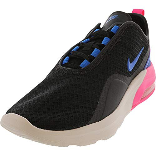 Nike Women's Air Max Motion 2 Running Shoes, Black/Anthracite-Racer Blue, Black/Photo Blue-hyper Pink, 8