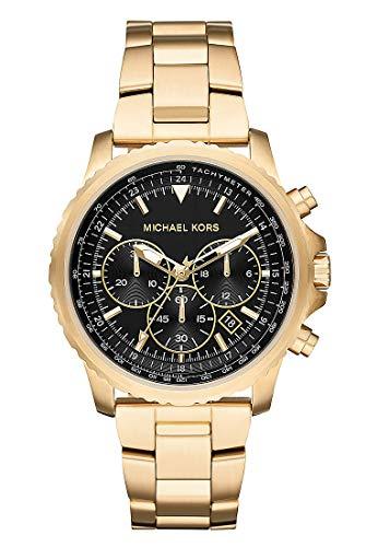 Michael Kors Herren Analog Quarz Uhr mit Edelstahl Armband MK8642