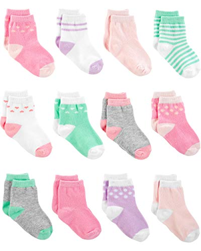 Simple Joys by Carter's - Calzini - Confezione da 12 calzini. - Beb femminuccia rosa Rosa/Viola/Menta 3-12M