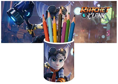 Ratchet & Clank Rift Apart B Stiftköcher Keramik Stifthalter Keramikglas Pencil Holder Ceramic Glass