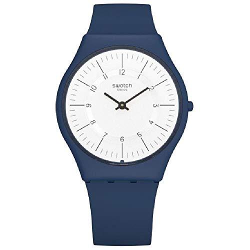 Swatch Damen Analog Quarz Uhr mit Silikon Armband SFN124