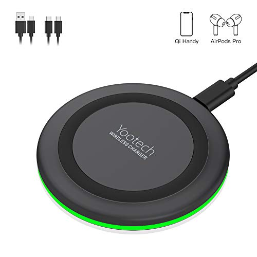 yootech Wireless Charger Ladepad, 10W Fast kabellose Ladestation Induktion ladegerät für Qi Phones wie iPhone 11/11 Pro/11 Pro Max/XS MAX/XR/XS/X/8/8 Plus,Galaxy S20/Note 10/S10 Plus/S10,AirPods etc.