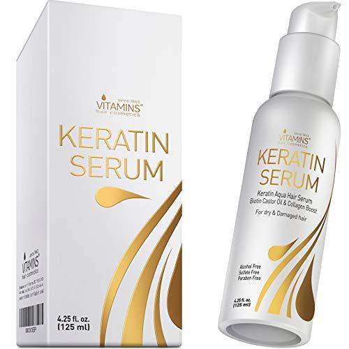 Vitamins Keratin Protein Hair Serum - Biotin...