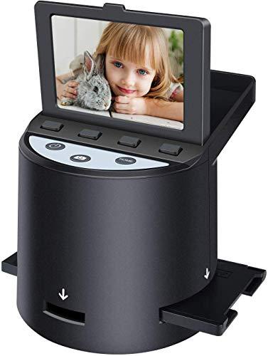 Hochauflösender 22MP Diascanner, Konvertiert Super-8-Filme, 35-mm-Dias und -Negative, 110 und 126 Film zu Digital Photo,Unterstützt PC und Mac