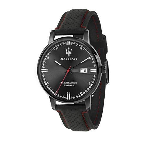 Orologio da uomo, Collezione Eleganza Maserati, movimento al quarzo, tempo e data, in acciaio e...