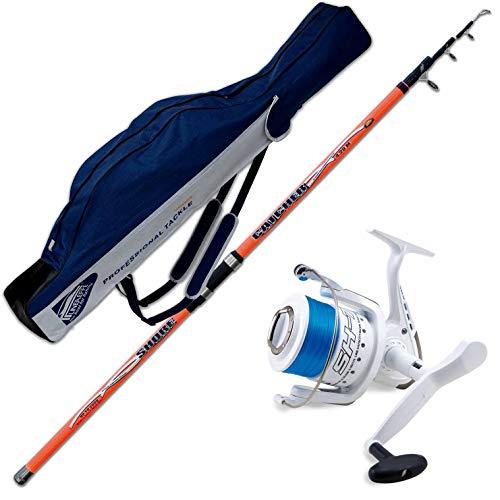 Evo fishing Canna Catcher 420 CM 200 GR + Mulinello SHIZUKA SK7 7000 + Fodero PORTACANNE