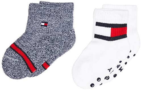Tommy Hilfiger Th Baby Sock 2p Flag calze, Tommy Original, 19-22 (Pacco da 2) Unisex-Bimbi