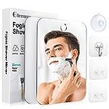 Shower Mirror Fogless for Shaving, Anti-Fog Mirror with Razor Holder, Shatterproof Fogless Mirror for Shaving, Bathroom Accessories for Men & Women - 2 Packs