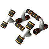FireFlies Push Up Bars H-Shaped Push-Up Bracket Power Tower Workout Pull Up & Dip Station Pull-Up Bars Home Gym Fitness Equipment (Orange)
