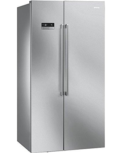Smeg SBS63XE - frigorifero Side-by-Side, 90 cm, acciaio inox antimpronta. Classe energetica A+