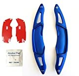 SUBARU スバル パドルシフトカバー 3Dデザイン カーボン レヴォーグ アウトバック フォーレスター インプレッサ XV WRX S4 リアルカーボン (青3D)