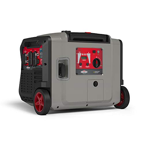 Briggs & Stratton P4500 Power Smart Series Inverter Generator | Electric Start, CO Guard, Quiet Power Technology, RV Ready