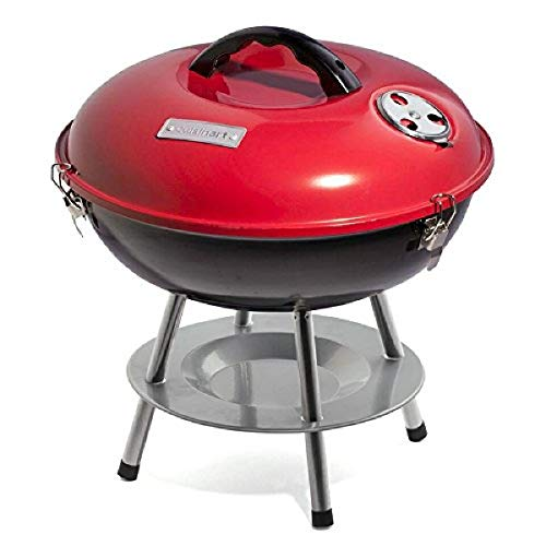 Product Image 1: Cuisinart CCG190RB Portable Charcoal Grill, 14-Inch, Red, 14.5