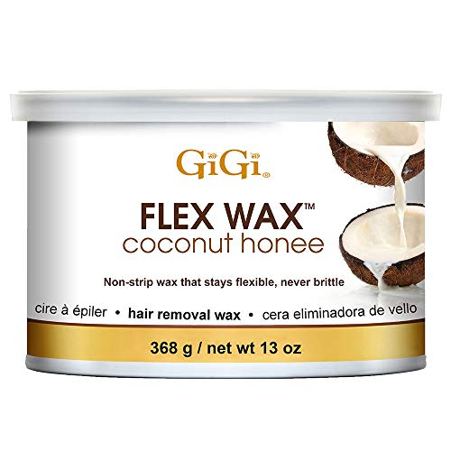 GiGi Coconut Honee Flex Wax - Non-Strip Hair Removal Wax, 13 oz