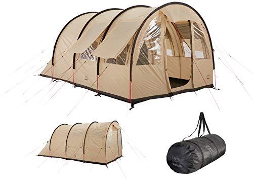 Grand Canyon HELENA 3 - tente tunnel pour 3 personnes | tente, tente familiale avec deux zones de couchage | Désert de Mojave (beige)