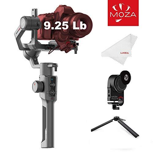 Moza Air 2 Stabilizzatore cardanico per fotocamera reflex a 3 assi, carico utile 4,2 kg, per un funzionamento di 16 ore, per Nikon, Sony, RED, Blackmagic