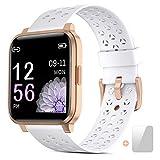 Smartwatch,Fitness Armbanduhr Voll Touchscreen smart Watch IP68 Wasserdicht Fitness Tracker Sportuhr mit Schrittzähler Pulsuhren Schlafmonitor Musiksteuerung Stoppuhr für Damen Herren iOS Android