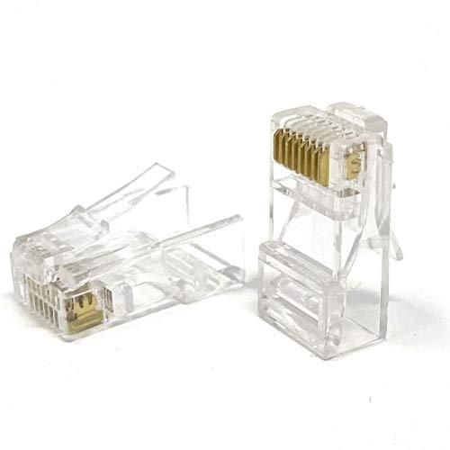 Conectores RJ45 Mr. Tronic |  8P8C |  Enchufes modulares (100 piezas, CAT5E UTP)
