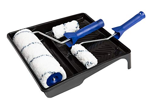 Schuller Eh\'klar Blue Line Set 6-tlg (1 Farbwanne 33x34 cm, 1 Farbwalze 25 cm, 1 Bügel 8 mm, 2 HK-Walzen 10 cm, 1 Bügel 6 mm), 20230