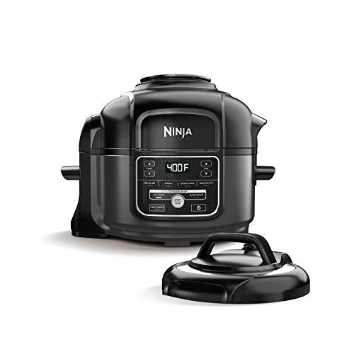 Ninja OP101 Foodi 7-in-1 Pressure, Slow Cooker, Air Fryer and More, 5-Quart, Black/Gray