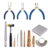 PandaHall Elite 13 Sets Jewelry Tool with Metal Mandrel Finger Sizing Measuring...