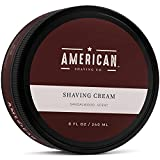 American Shaving Shaving Cream For Men (8oz) - Sandalwood Barbershop Scent - Premium Natural...