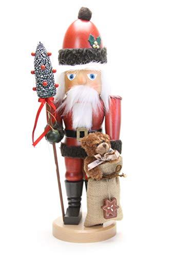 Christian Ulbricht German Christmas Nutcracker Santa Claus with Teddy - 44,5 cm / 18 inch - Authentic German Erzgebirge Nutcrackers