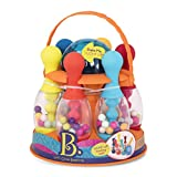 B. Toys – Let's Glow Bowling! – Multicolored Six Pin Toy Bowling Set with Flashing Light-Up Ball & Carrying Caddy for Kids Ages 2+