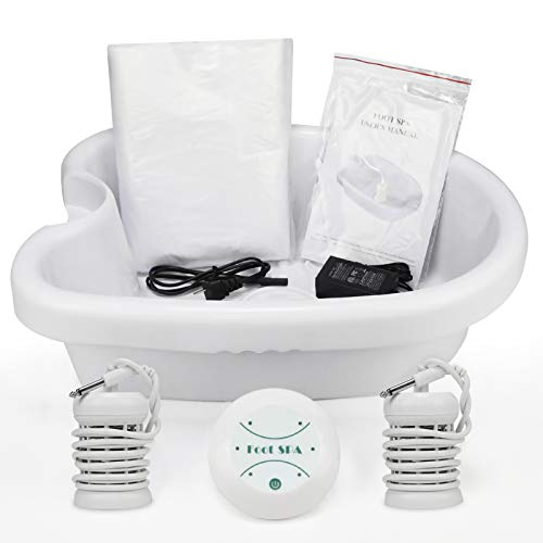 Ionic Detox Foot Bath Machine, Personal Ionic Foot Cleanse Ionic Foot Bath SPA Machine Foot Detox System for Home Beauty Salon Spa With Basin, 100 Liners