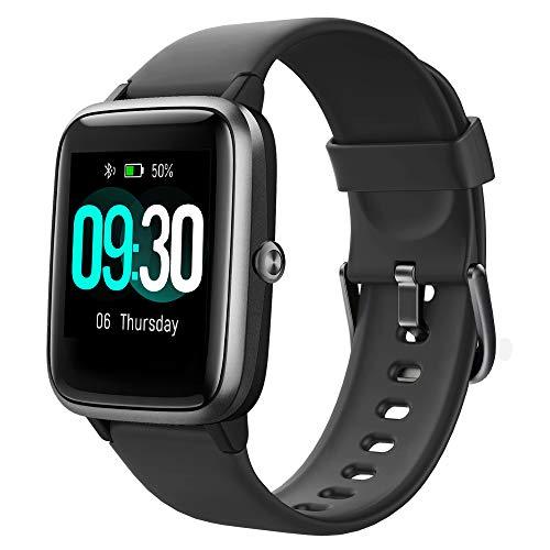 Willful Smartwatch,Reloj Inteligente con Pulsómetro,Cronómetros,Calorías,Monitor de Sueño,Podómetro Monitores de Actividad Impermeable IP68 Smartwatch Hombre Reloj Deportivo...