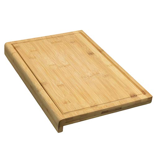 Coninx Cutting Board Carving Bamboo Board - 45 cm x 30 cm x 2.5 cm Large and Sturdy Kitchen - Bamboo Wood Cutting Board with groove