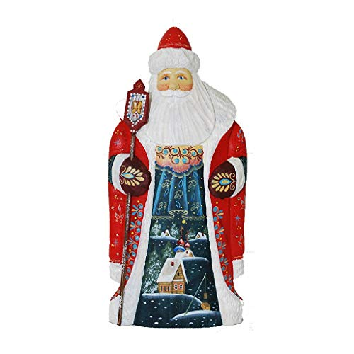 Gabriella's Gifts Unique Russian Hand Carved and Painted Wooden Santa/Grandfather Frost 11' Tall