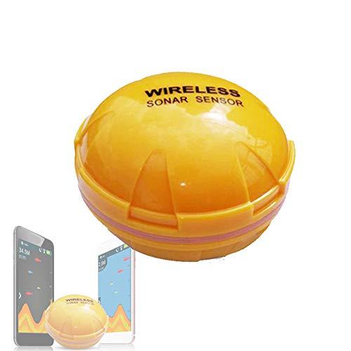 CARACHOME Wireless Fish Finder, Collegamento Bluetooth Tramite App Sensore ecoscandaglio Wireless Portatile per ecoscandaglio Pesca in Mare Ecoscandaglio Trasduttore ecoscandaglio