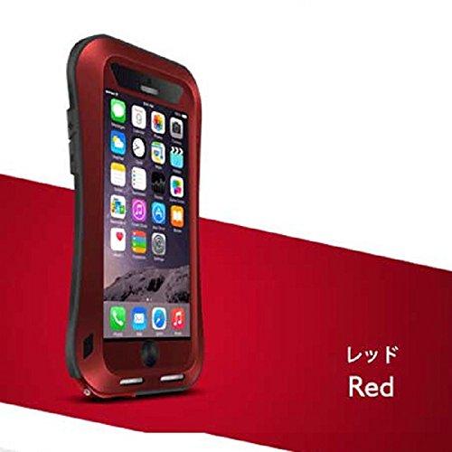 新品発売 iPhone強靭タフケース直線と曲線2種類 軍用防塵耐衝撃 iPhone6/iPhone6s/iPhone6Plus/iPhone6sPlusアイフォン6ケース カバー (曲線,iPhone6 plus/iPhone6s plus, レッド)