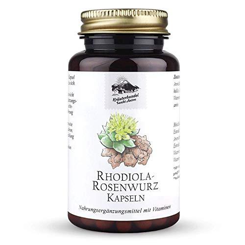 KRÄUTERHANDEL SANKT ANTON® - Rhodiola-Rosenwurz Kapseln - Hochdosiert - Vitamin B1 und B6 - Deutsche Premium Qualität (120 Kapseln)