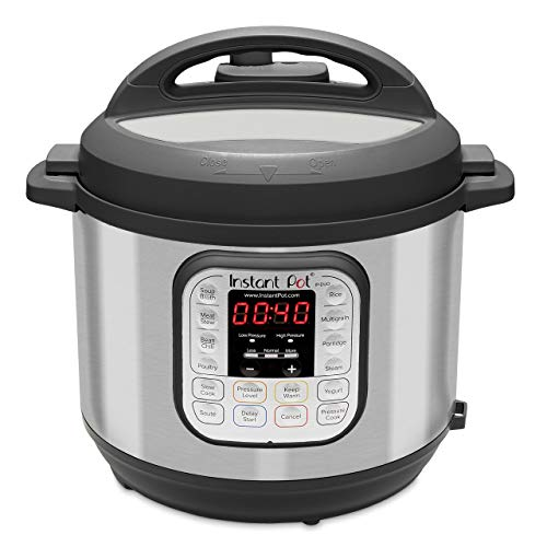 Instant Pot IP-DUO60 321 Electric Pressure Cooker, 6-QT, Stainless Steel/Black