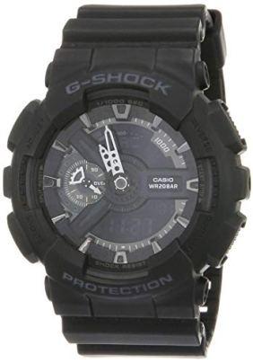 Casio G-Shock Ana-digi World Time Black Dial Men's watch #GA110-1B