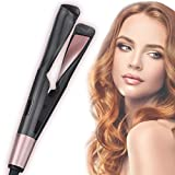8 Sets LIUMY Professional Salon Hair Straightener and Curler 2 in 1, Tourmaline Ceramic Twisted Flat Iron, with LCD Digital Display, Adjustable Temp and Auto Shut-Off, Suitable for All Hair Quality.