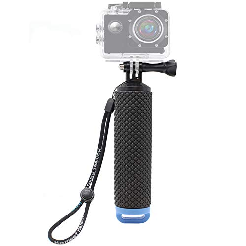 Homeet Bastone Galleggiante per Action Cam Impugnatura Impermeabile Handle per SJCAM/ Garmin Virb/ DBPOWER/ YI 4K/ QUMOX/ Rollei/ Apeman 【BLU】